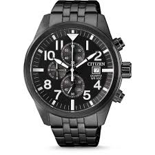 Gents Black case and band Citizen Chronograph Watch