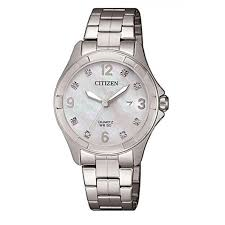 Ladies Citizen Mother of Pearl and crystals on dial