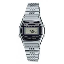 Classic Ladies Silver Casio Digital Watch