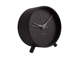 Karlsson Index Black Alarm Clock