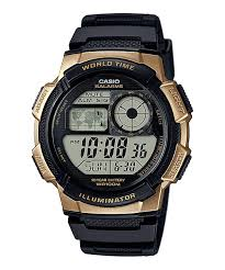 Casio Black and Gold Digital Watch