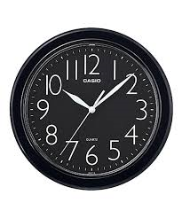 Casio Black Wall Clock IQ-01S-1DF