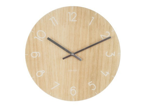 Glass Clock Wood