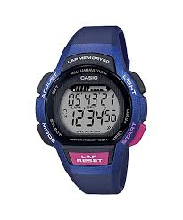 Casio Digital Steptracker Blue Resin Watch
