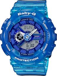 Baby G Blue Transperant Watch