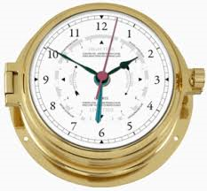 Brass Nautic Tide Clock 160mm
