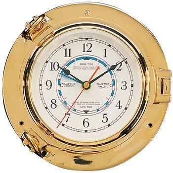 Brass Porthole Tide Clock 85mm