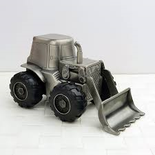 Pewter Digger Money Box