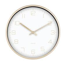 Karlsson Gold Elegance White Dial Wall Clock