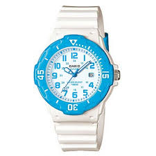 Casio Analogue Watch White/Blue