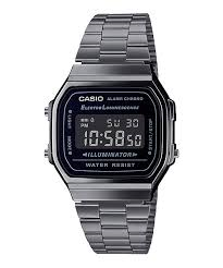 Casio Vintage Style Gunmetal Grey Watch