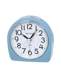 Alarm Clock Rhythm round top Blue Case