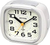 Rhythm Alarm Clock White Super Silent