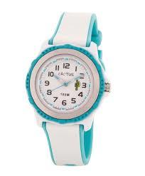 Cactus Blue and White Watch CAC-78-M11
