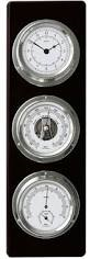 Black and Chrome Fischer Barometer set
