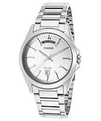 Casio Stainless Steel Watch With day date indicator