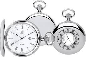 Royal London Quartz Silver plated case Pocket Watch