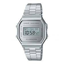 Casio Classic Retro Digital Silver Watch