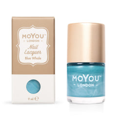 MoYou London Stamping Nail Lacquer - Blue Whale