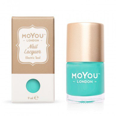 MoYou London Stamping Nail Lacquer - Electric Teal