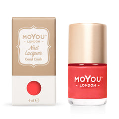 MoYou London Stamping Nail Lacquer - Coral Crush