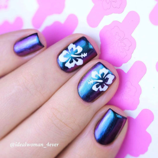 Whats Up Nails Nail Vinyl - Hibiscus Stencils