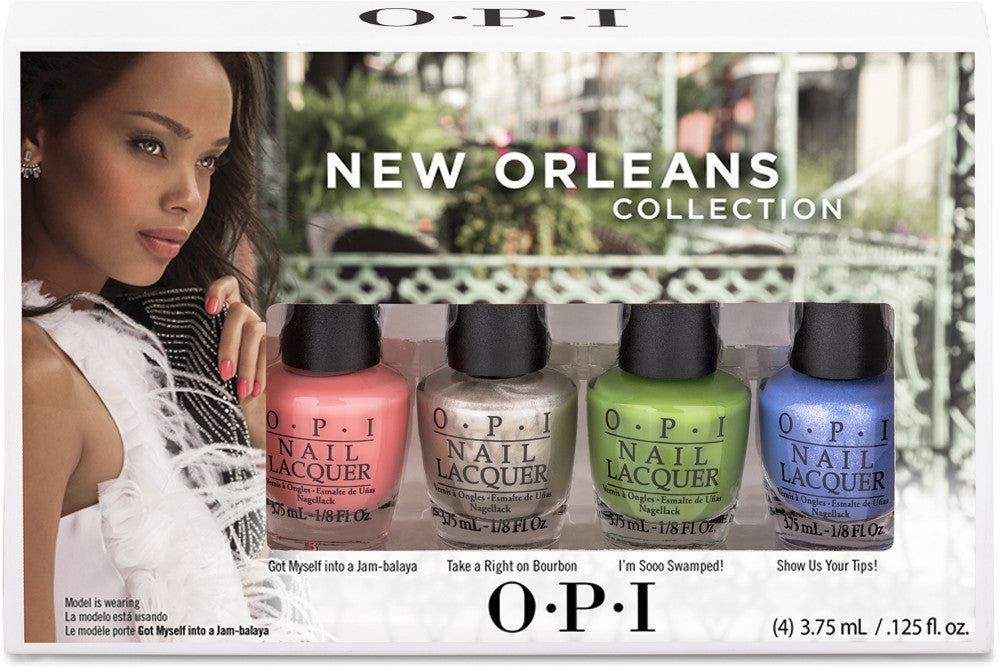 OPI Nail Lacquer Mini Set - New Orleans (4 Pack)
