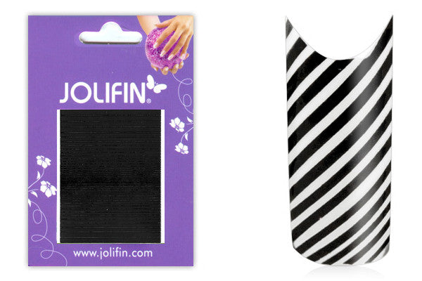 Fancy Nail Art Sticker Black No.7