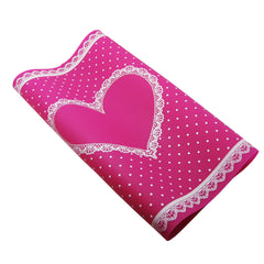 Silicone Work Mat - Cerise Lace Heart