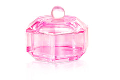 Pink Glass Dish For Acrylic Monomer Liquid (with Lid)