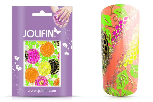 Neon Nail Art Sticker No.30