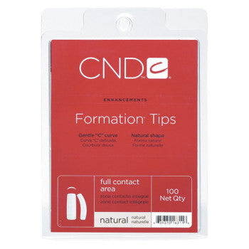 CND Formation Tips - Choose Natural or Clear (100 count)