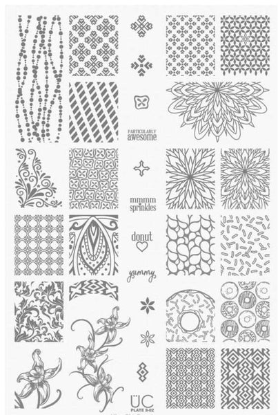 UberChic Nail Stamping Plates - Collection 8 (Set of 3)