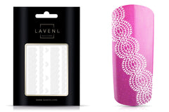 Lace Nail Art Sticker White or Silver No.1