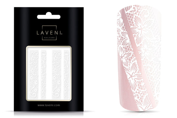 LAVENI Lace Nail Art Sticker White No.2