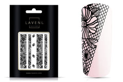 Lace Nail Art Sticker Black No.1