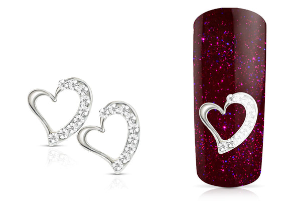 Nail Charm - Diamond Hearts