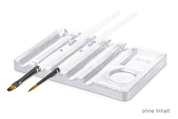 Clear Acrylic Brush Holder with Mixing Palette
