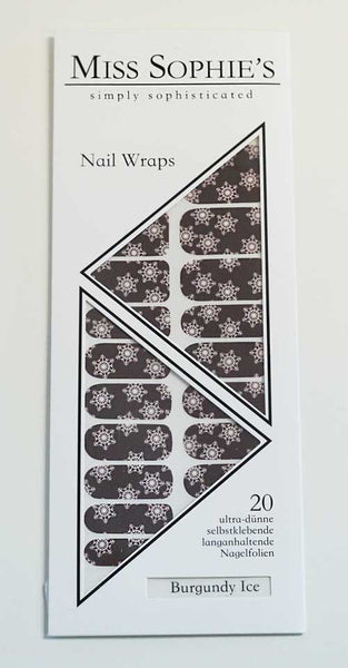 Miss Sophie's Nail Wraps - Burgundy Ice