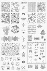 UberChic Nail Stamping Plate - Geek Love-01