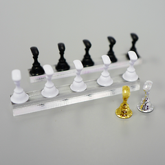 Clear Tip Stand Set with Black, White, Silver and White