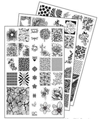 UberChic Nail Stamping Plates - Collection 4 (Set of 3)