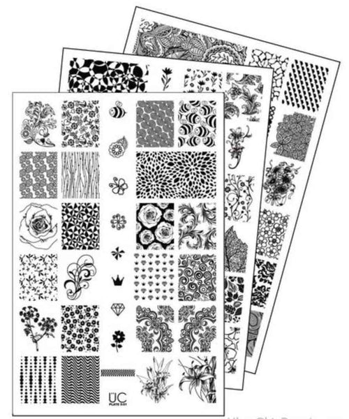 UberChic Nail Stamping Plates - Collection 5 (Set of 3)