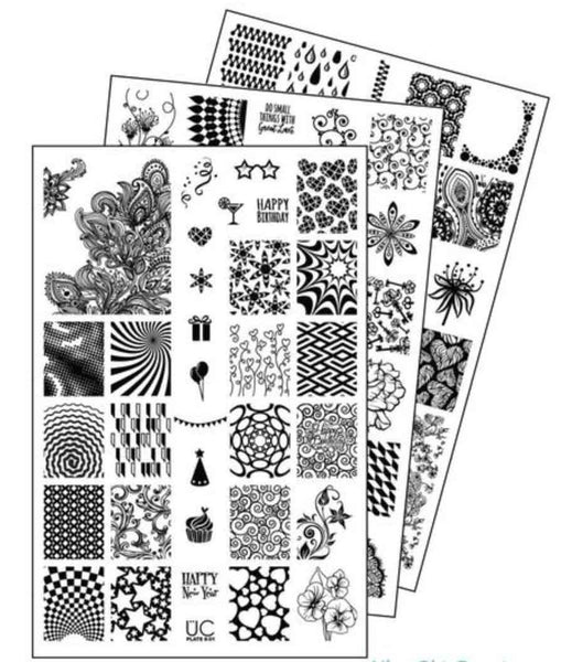 UberChic Nail Stamping Plates - Collection 6 (Set of 3)