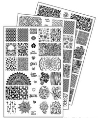 UberChic Nail Stamping Plates - Collection 7 (Set of 3)