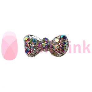 Nail Charm Bow - Color Sparkle