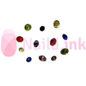 Wheel with Cone Rhinestones - (Various Colours)