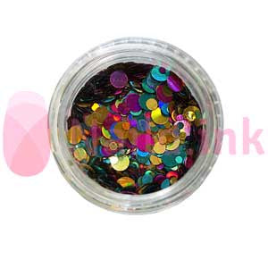 Confetti - Jewel (Pink Green Gold)
