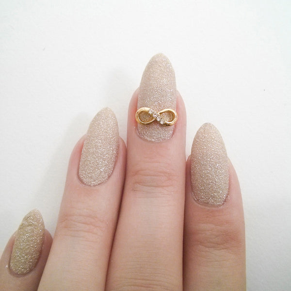 Nail Charm Infinity Bow - Gold