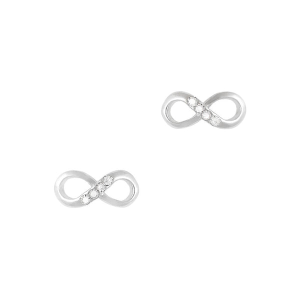 Nail Charm Infinity Bow - Silver